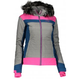 Dámská zimní bunda KILPI LEDA-W HL0003KI RŮŽOVÁ