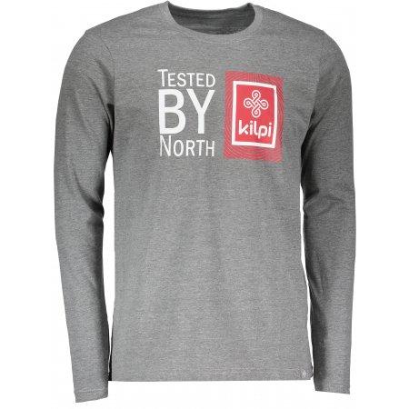 Pánské tričko s dlouhým rukávem KILPI TESTED-M HM0065KI TMAVĚ ŠEDÁ