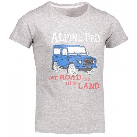 Dětské tričko s krátkým rukávem ALPINE PRO MARVO KTSL109 SVĚTLE ŠEDÁ