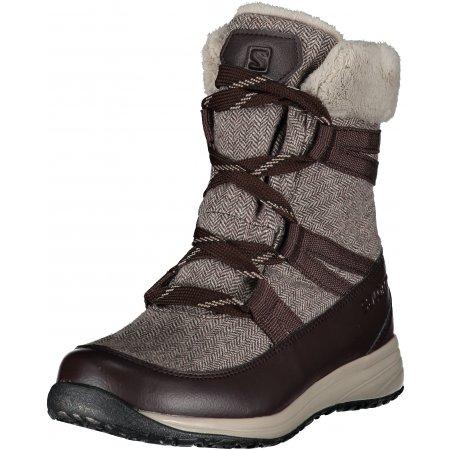 Dámské zimní boty SALOMON HEIKA CS WP BLACK COFFEE/CINDER/BLACK