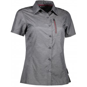Dámská košile s krátkým rukávem ALPINE PRO LURINA 2 LSHL015 TMAVĚ ŠEDÁ