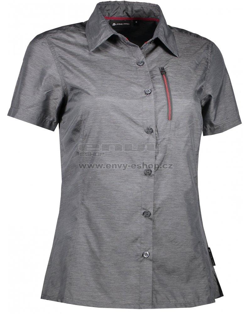 Dámská košile s krátkým rukávem ALPINE PRO LURINA 2 LSHL015 TMAVĚ ŠEDÁ 24d1250494