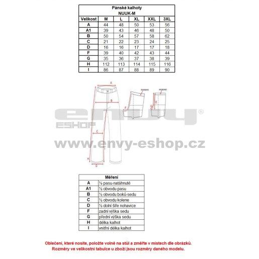 Pánské běžkařské kalhoty KILPI NUUK-M HM0047KI ČERNÁ