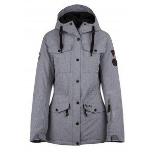Dámská zimní bunda KILPI GEISA-W HL0059KI TMAVĚ ŠEDÁ