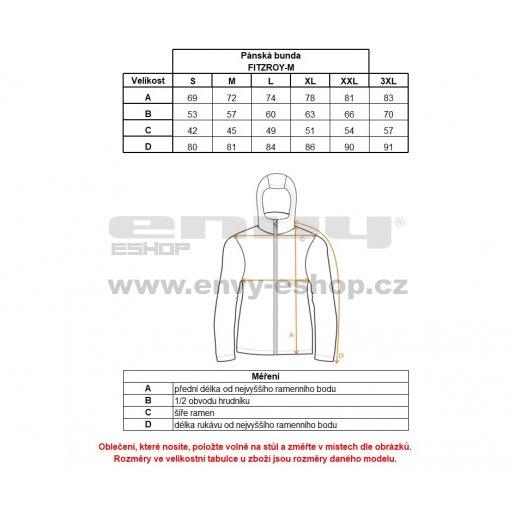 Pánská zimní bunda KILPI FITZROY-M HM0051KI MODRÁ