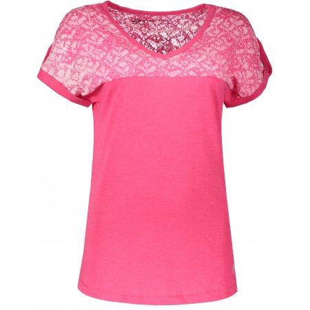 Dámské tričko s krátkým rukávem ALPINE PRO ATTALA 4 LTSL282 TMAVĚ RŮŽOVÁ