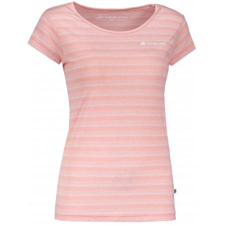 Dámské triko s krátkým rukávem ALPINE PRO PENSIERI 3 LTSL271 SVĚTLE RŮŽOVÁ
