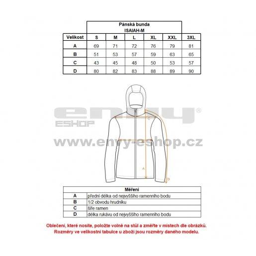 Pánská zimní bunda KILPI ISAIAH-M HM0090KI ORANŽOVÁ