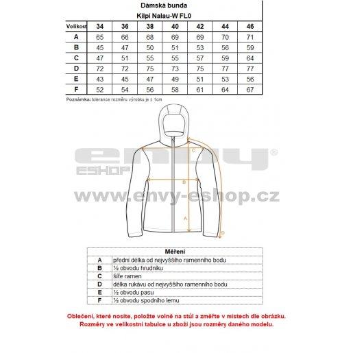 Dámská bunda KILPI NALAU-W FL0015KI SVĚTLE MODRÁ
