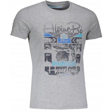 Pánské tričko s krátkým rukávem ALPINE PRO BUFF MTSJ300 TMAVĚ ŠEDÁ