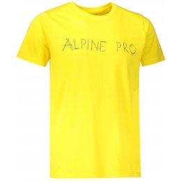 Pánské triko s krátkým rukávem ALPINE PRO RYKER MTSL327 ŽLUTÁ