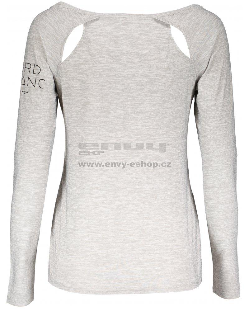 fe6118f28cd4 Dámské tričko na jógu NORDBLANC LATTICE NBSLF6693 SVĚTLE ŠEDÝ MELÍR ...