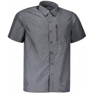 Pánská košile s krátkým rukávem ALPINE PRO LURIN 2 MSHL029 TMAVĚ ŠEDÁ