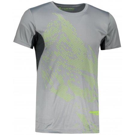 Pánské tričko s krátkým rukávem ALPINE PRO HETT 2 MTSL266 SVĚTLE ŠEDÁ