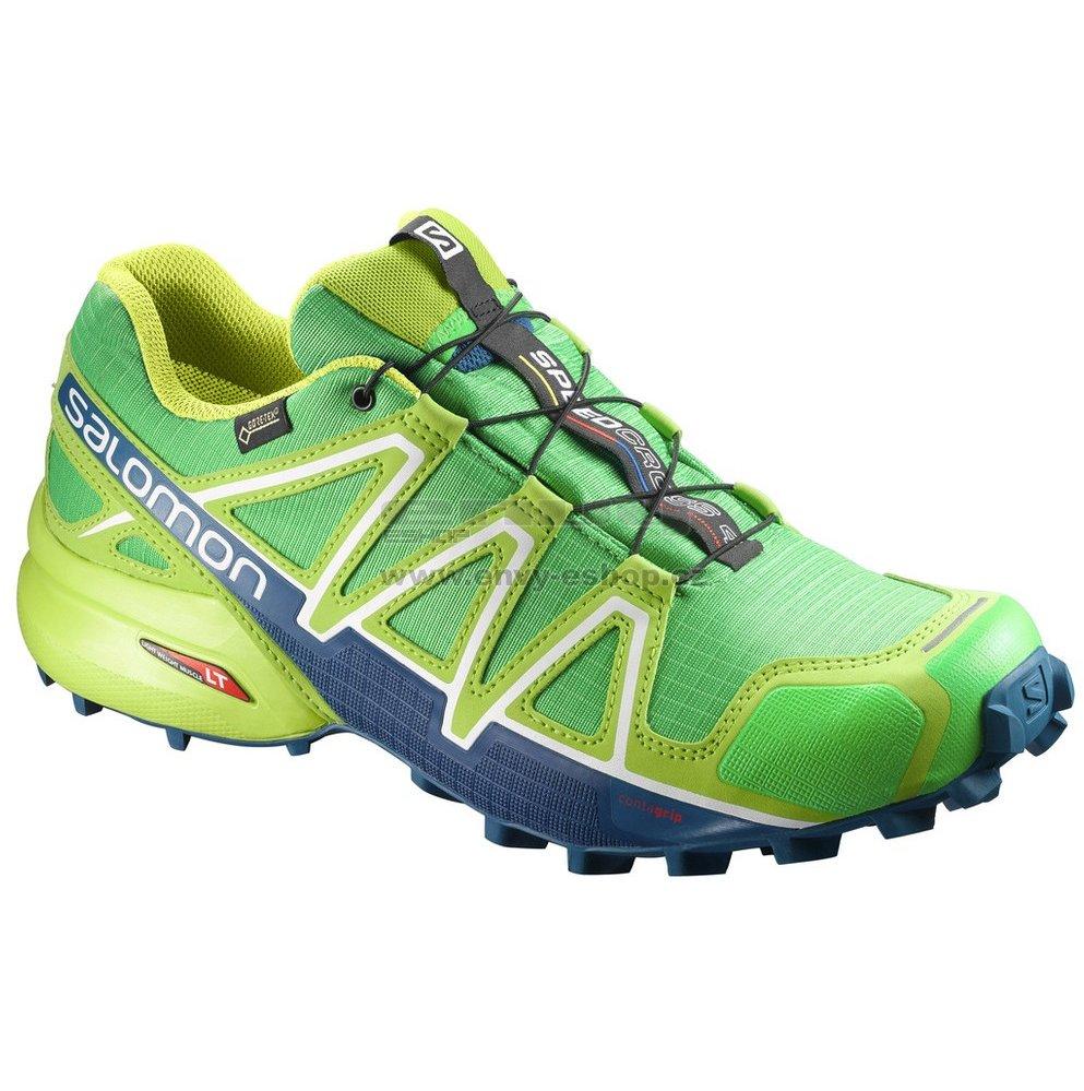 Pánské běžecké boty SALOMON SPEEDCROSS 4 GTX® L39843000 CLASSIC GREEN LIME  GREEN POSEIDON e03da24db3f