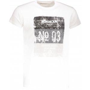 Pánské tričko NORDBLANC SHEET NBSMT6806 BÍLÁ