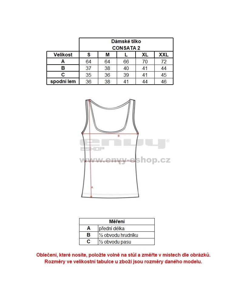 Dámské tílko ALPINE PRO CONSATA 2 LTSL287 SVĚTLE MODRÁ velikost  L ... c72545df6b