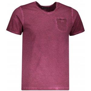 Pánské triko s krátkým rukávem ALPINE PRO JODYN MTSL263 TMAVĚ FIALOVÁ