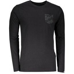 Pánské tričko s dlouhým rukávem ALPINE PRO ISMAT MTSL258 ČERNÁ