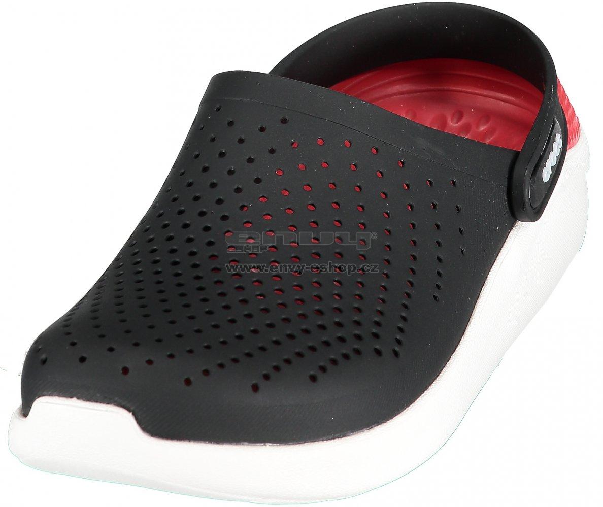 Pánské pantofle CROCS LITERIDE CLOG 204592-066 BLACK WHITE velikost ... de17f0c231
