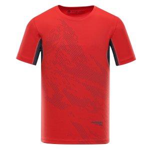 Pánské tričko s krátkým rukávem ALPINE PRO HETT 2 MTSL266 ČERVENÁ