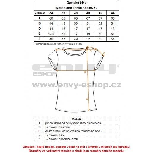 Dámské tričko NORDBLANC THROB NBSLT6732 ČERNÁ