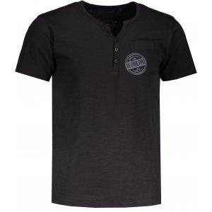 Pánské tričko s krátkým rukávem ALPINE PRO ROPER 2 MTSL259 ČERNÁ