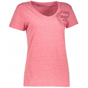 Dámské triko s krátkým rukávem ALPINE PRO KERPA 2 LTSL291 TMAVĚ RŮŽOVÁ