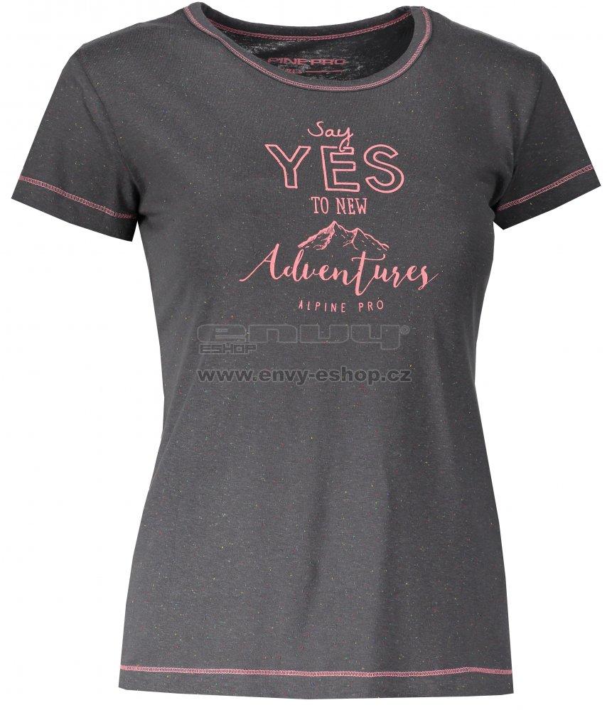 Dámské tričko s krátkým rukávem ALPINE PRO ROZENA 4 LTSL285 TMAVĚ ŠEDÁ eb3a05ecf1