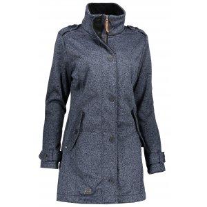 Dámský softshellový kabát NORDBLANC PALATIAL NBWSL6598 ŽELEZNÁ MODRÁ