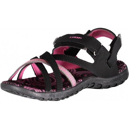 Dámské sandále LOAP CELIA SSL18141 ČERNORŮŽOVÁ