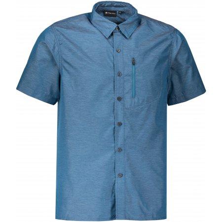 Pánská košile s krátkým rukávem ALPINE PRO LURIN 2 MSHL029 TMAVĚ MODRÁ