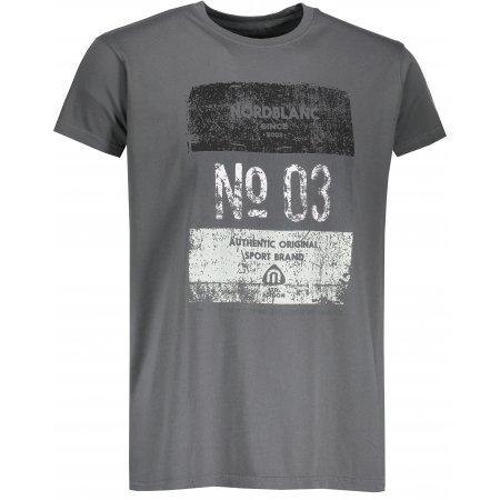 Pánské tričko NORDBLANC SHEET NBSMT6806 ŠEDÝ KOUŘ