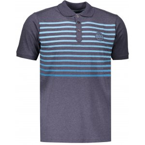 Pánské tričko s límečkem ALPINE PRO HEROLD 4 MTSL260 TMAVĚ MODRÁ