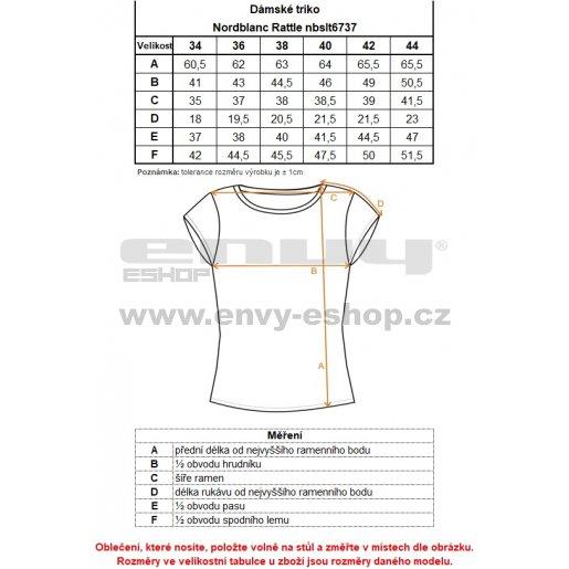 Dámské tričko NORDBLANC RATTLE NBSLT6737 MODRÁ HVĚZDA