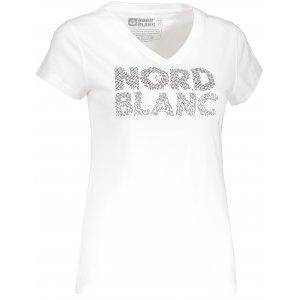 Dámské tričko NORDBLANC RATTLE NBSLT6737 BÍLÁ