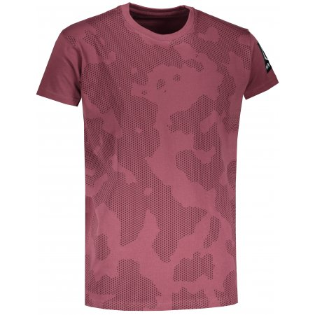 Pánské tričko NORDBLANC ARMY NBSMT6813 ZAPRÁŠENÁ VÍNOVÁ