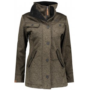 Dámský softshellový kabát NORDBLANC DUE NBWSL6599 TMAVÁ KHAKI
