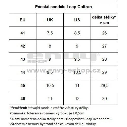 Pánské sandále LOAP COLTRAN SSM1853 ČERNOŽLUTÁ