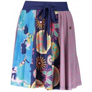 Dámská sukně KIXMI ESTELA TMAVĚ MODRÁ
