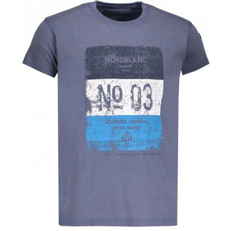Pánské tričko NORDBLANC SHEET NBSMT6806 MODRÁ HVĚZDA