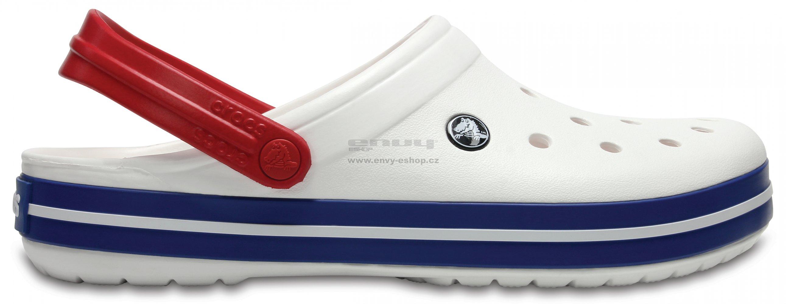 259916008dc Pánské pantofle CROCS CROCBAND CLOG 11016-11I WHITE BLUE JEAN ...
