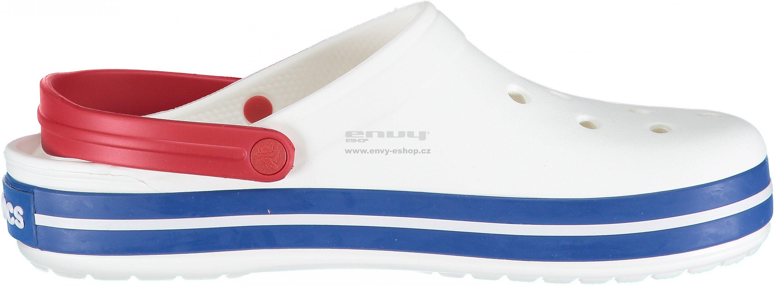 f2117374f3 Pánské pantofle CROCS CROCBAND CLOG 11016-11I WHITE BLUE JEAN ...