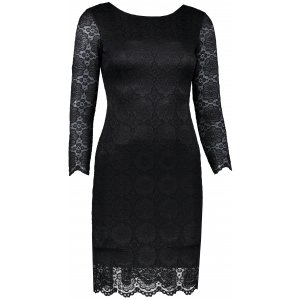 Dámské šaty s krajkou NUMOCO 180-1 ČERNÁ