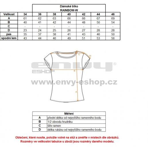 Dámské funkční triko s krátkým rukávem KILPI RAINBOW-W IL0170KI FIALOVÁ