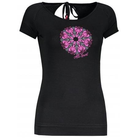 Dámské triko s krátkým rukávem ALTISPORT MOBI ALLS18037 ČERNÁ