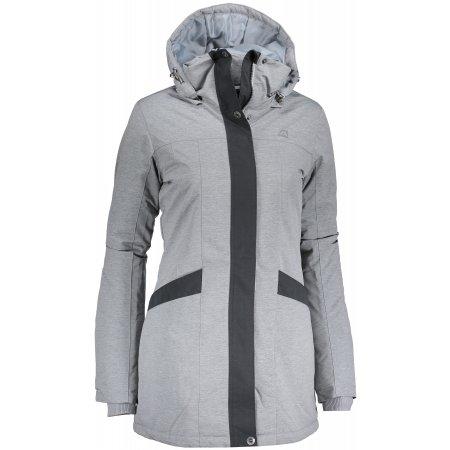 Dámský kabát ALPINE PRO WESTINA 2 LCTM046 ŠEDÁ