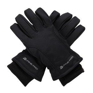 Zimní softshellové rukavice ALPINE PRO KAHUG UGLM006 ČERNÁ 22a42e7194
