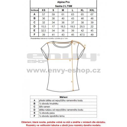 Dámské triko ALPINE PRO SASHA 2 LTSM341 SVĚTLE MODRÁ