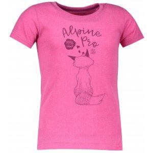 Dětské triko ALPINE PRO BRANTO KTSM121 RŮŽOVÁ